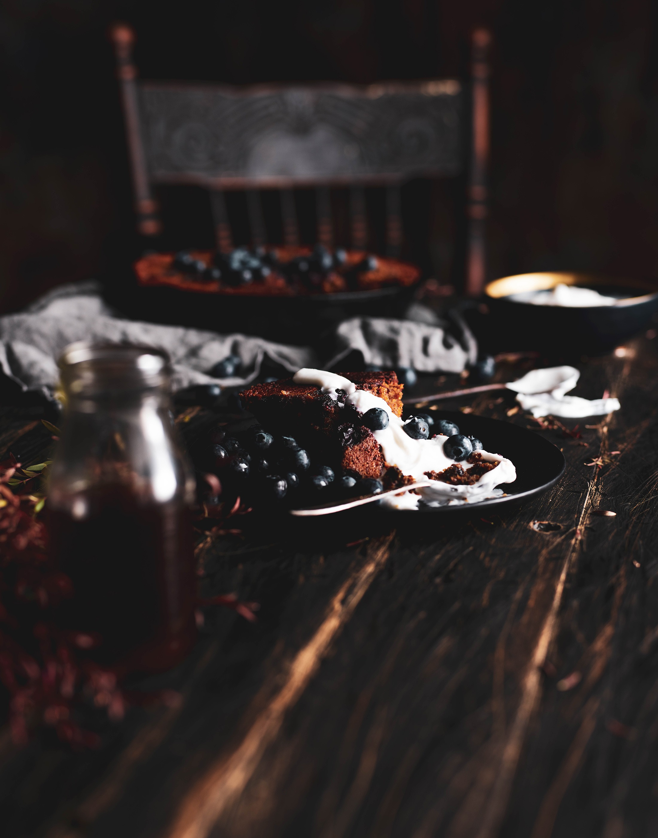 AUTUMN EDIT Burnt Butter Blueberry Skillet Cake