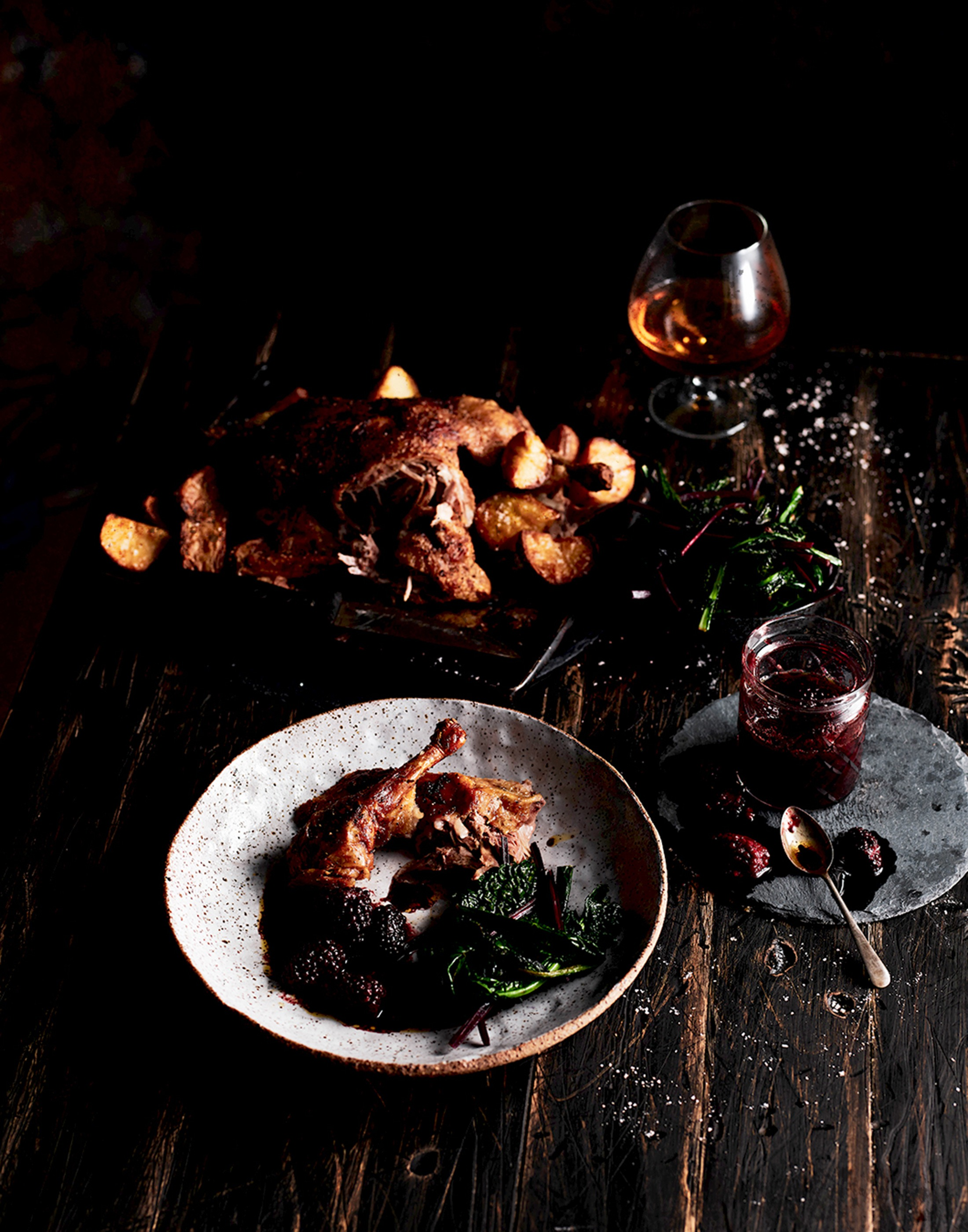 AUTUMN EDIT Roast Free-Range Duck with Blackberry Sauce