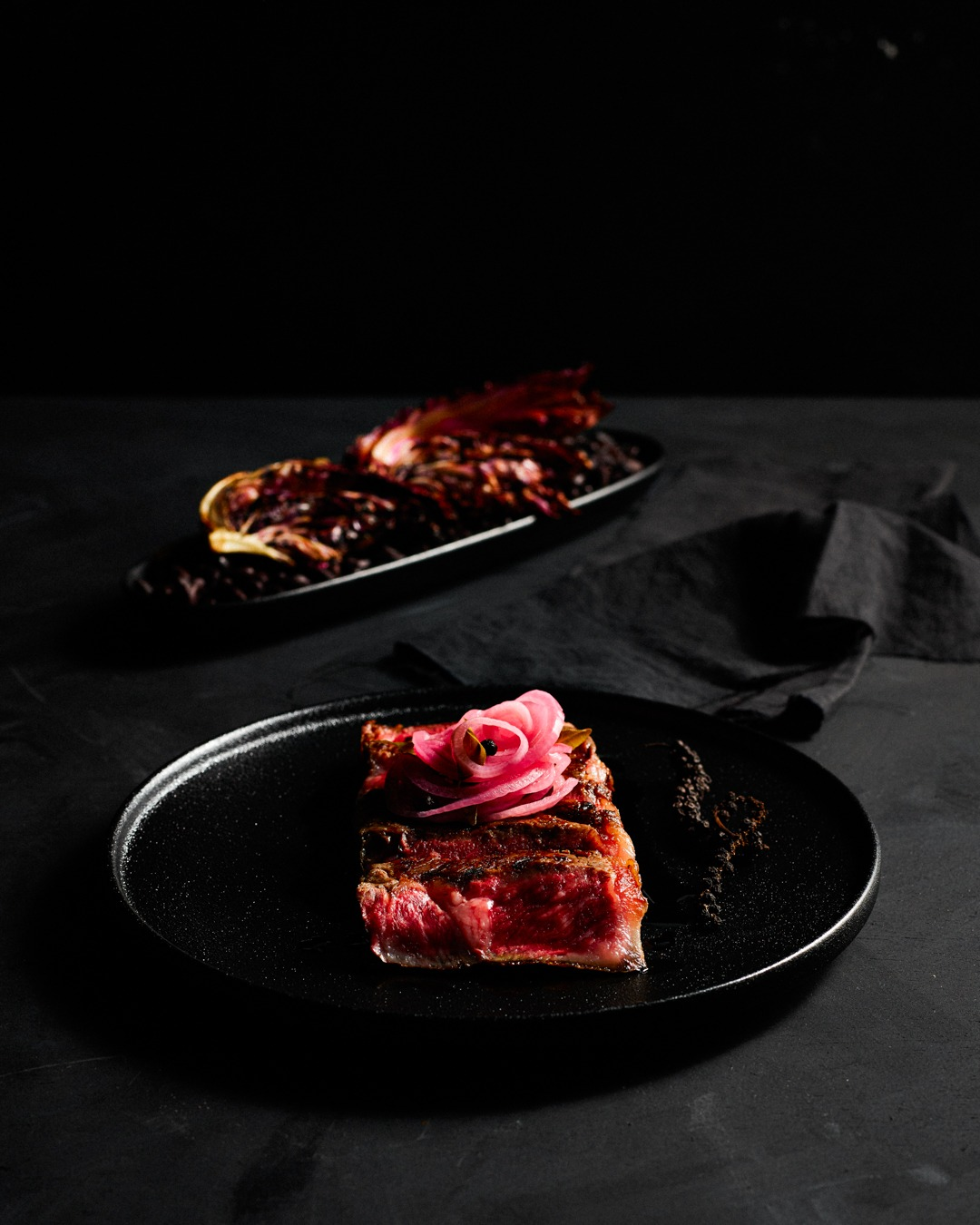 SEARED WAGYU STRIPLOIN WITH GRILLED TREVISO