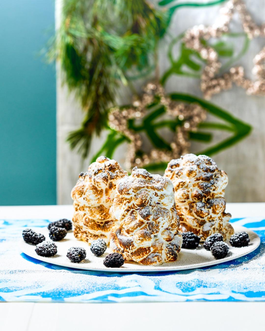 Madeira Cake, Elderflower and Blackberry Bombe Alaska